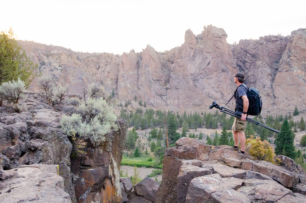Tripod suspension kit deployed at Smith Rock.